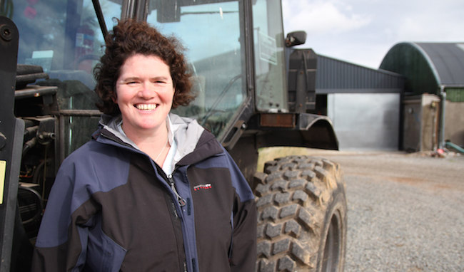 Woman standing outside tractor, courtesy of Scottish Government RPID