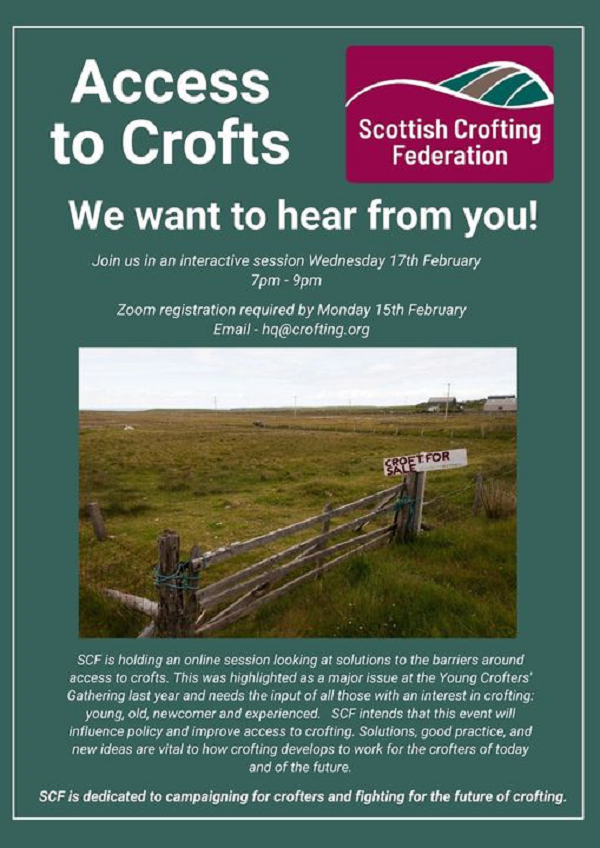 SCF Access to Crofts