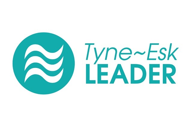 Blue logo with test saying Tyne Esk LEADER