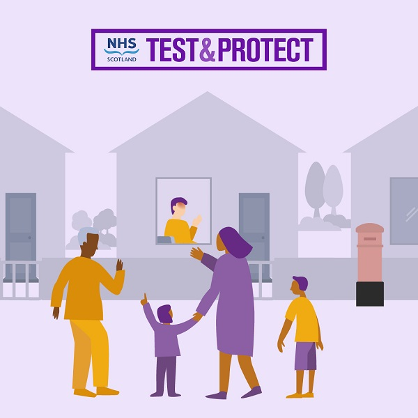 Test & Protect graphic