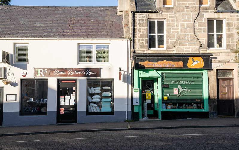 Shop fronts in Grantown-on-Spey