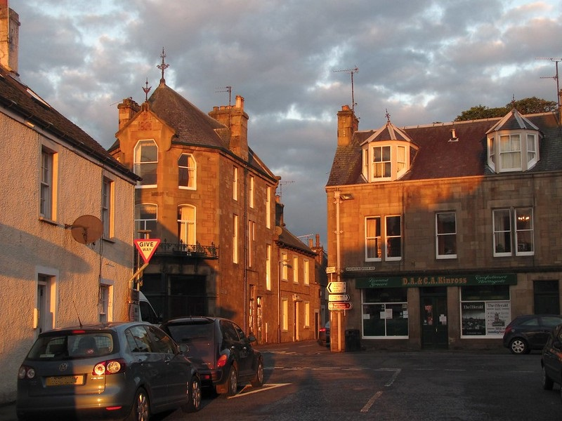 High street in Dunning, Perthshire