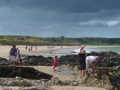 Families on beach