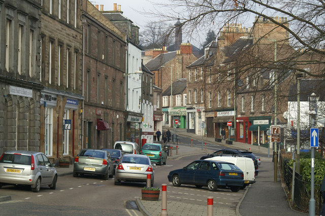 An empty high street in Blairgowrie, Perthshire