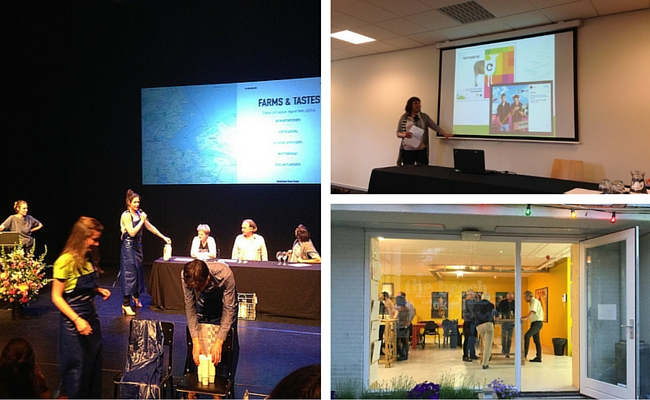 Collage of photos from the conference