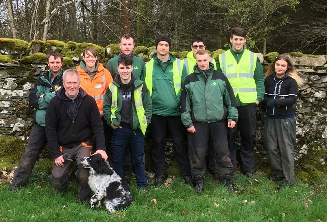 Group photo of forestry apprentices and trainers