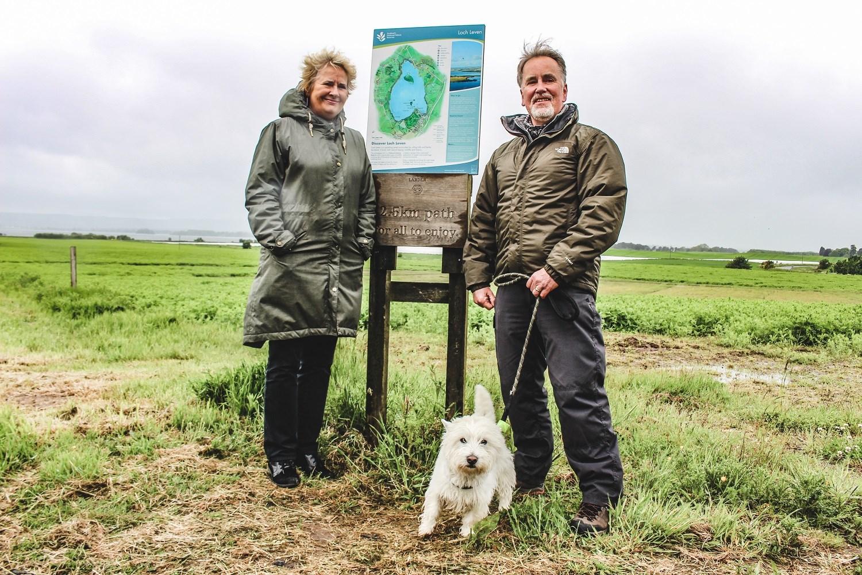 Environment Secretary Roseanna Cunningham on IPA funded path near Loch Leven