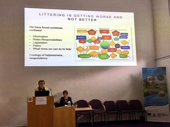Presentation being given at Litter Summit
