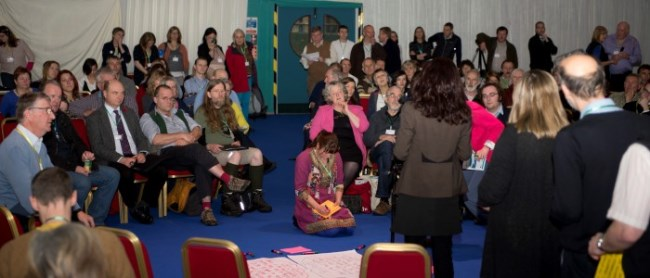 People taking part in Open Space session at first Scottish Rural Parliament