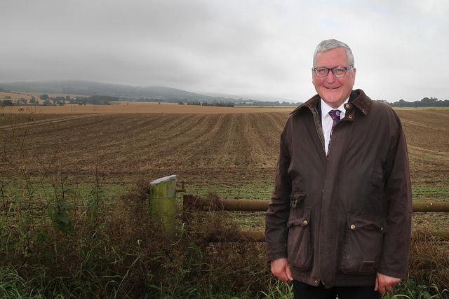Cabinet Secretary for Rural Economy, Fergus Ewing, on a visit to Bush Farm in Perthshire. Crown Copyright. Photographer - Ian Grieve