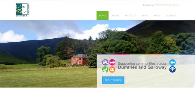 Screenshot of Dumfries and Galloway website