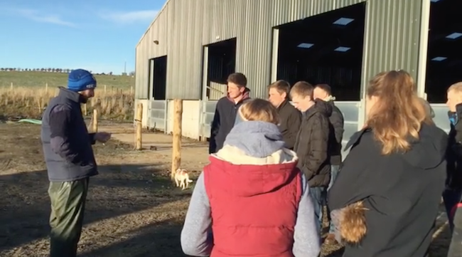screenshot from young farmers' event video