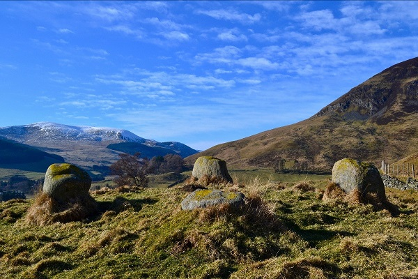 The Bronze Age Stone Circle known as Diarmuid's Tomb, Glenshee, photo Clare Cooper