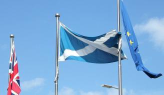 EU flag outside Holyrood