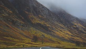 Mountain Near Road