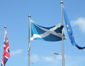 EU flag outside Holyrood