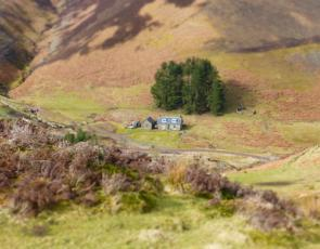 Farm house in hills