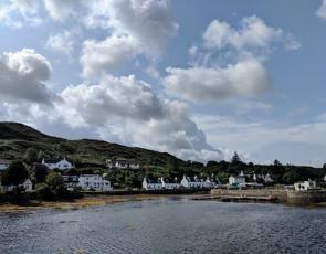 View of houses on Skye