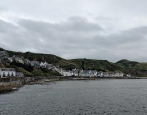 Coastal view of Gardenstown, near Aberdeenshire
