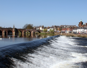 Dumfries townscape with river in foreground