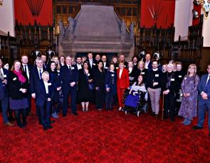 First Minister Nicola Sturgeon with 2019 SCVO Scottish Charity Awards finalists at Edinburgh Castle 6 Jan 2020 photo credit Lewis J Houghton