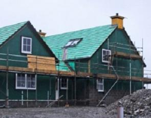 Croft house being built