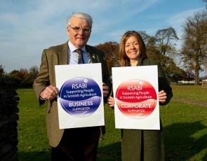 RSABI Chair Ewan Pate and RSABI Chief Executive Nina Clancy.