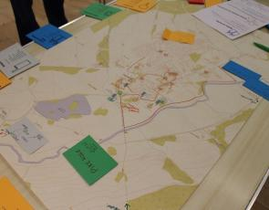 example of mapping used at community workshop