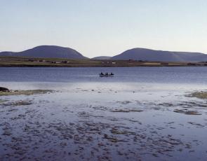 People in canoe in Orkney
