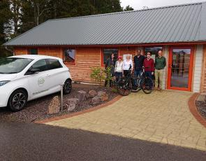 Findhorn Social Enterprise Hub with representations from Moray Carshare, Green Bridge Coffee Company