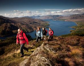 People walking in Loch Lomond and the Trossachs National Park, photo courtesy of Loch Lomond and the Trossachs National Park