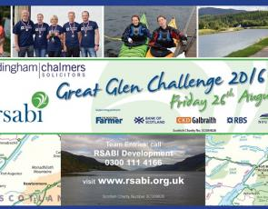 Collage of photos from Great Glen Challenge, including map of route