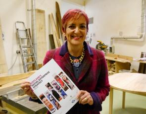 Angela Constance launches Scotland's first ever dedicated, long-term, Social Enterprise Strategy at Grassmarket Community Project in Edinburgh.