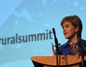 First Minister Nicola Sturgeon addressing participants at Rural Summit