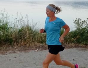 Rachel Biggar running