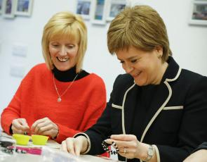 First Minister Nicola Sturgeon visits Plantation Productions in Govan