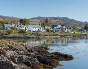 Coastal village in Scotland