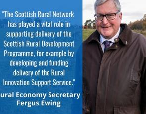 SRN Evaluation infographic with Fergus Ewing