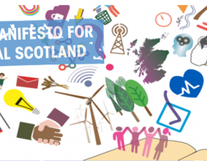 Graphic with text 'A Manifesto for Rural Scotland'