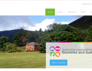 Screenshot of Dumfries and Galloway website