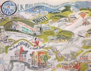 Mural from Through A Rural Lens event