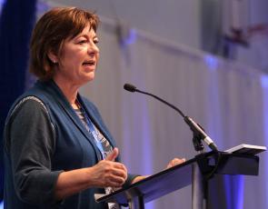 Amanda Burgauer speaking at the Scottish Rural Parliament