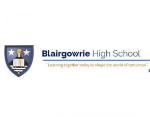Blairgowrie High School school badge and moto