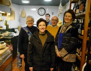 1. (L-R) Jill Clark, Connage Highland Dairy; Mairi Gougeon; cheesemonger Rory Mellis; Callum Clark; Jane Stewart, St An (1)