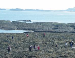 People on shore at North Berwick