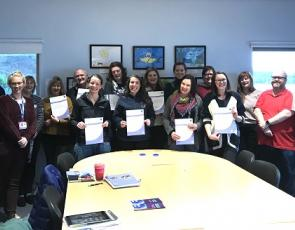 group photo of Mental Health First Aid training participants