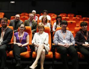 First Minister Nicola Sturgeon at Oban's Phoenix Cinema