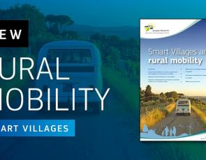 Rural Mobility graphic with front cover of briefing