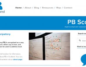 Screenshot from PB Scotland website