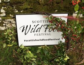 Wild Food Festival sign